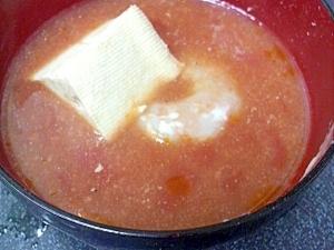 海老豆腐トマトスープ