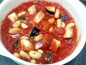 茄子ピーナッツトマトスープ