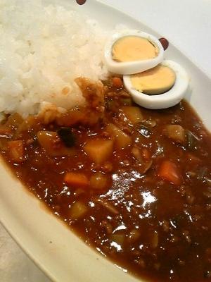 苦手克服♪小さめ野菜とお肉のキーマ風カレー☆