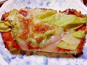 簡単!サラダのスパイシーピザトースト