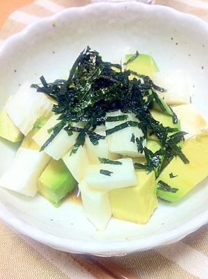 長芋とアボカドのわさび醤油和え☆