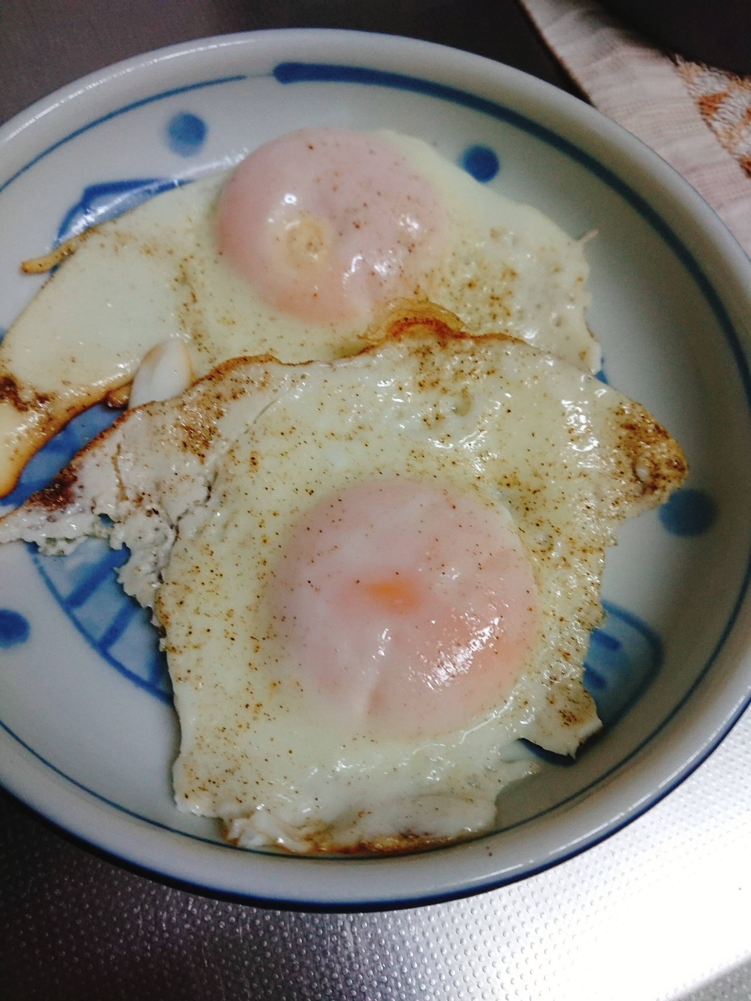 固い目玉焼きの作り方
