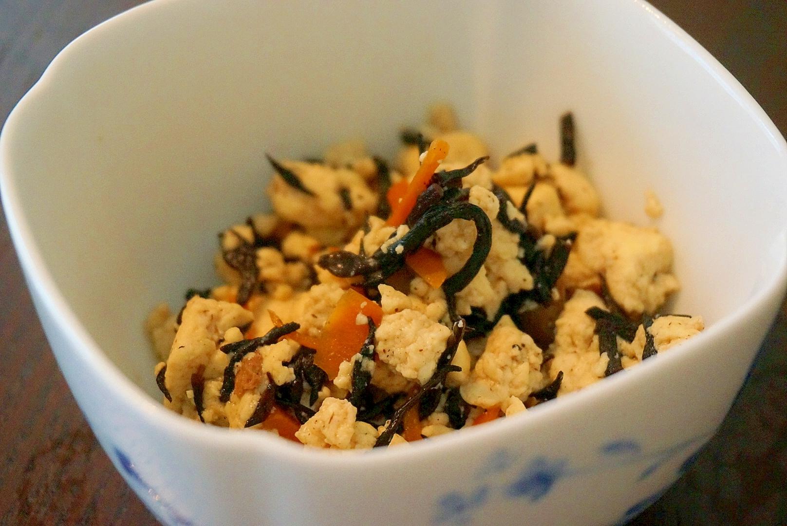 煎り豆腐とひじきの煮物