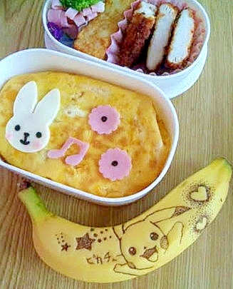 ★★キャラ弁に♪話題のバナナタトゥーを簡単に★★