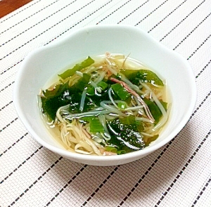 ちょっと和風に♪具だくさんの中華スープ☆