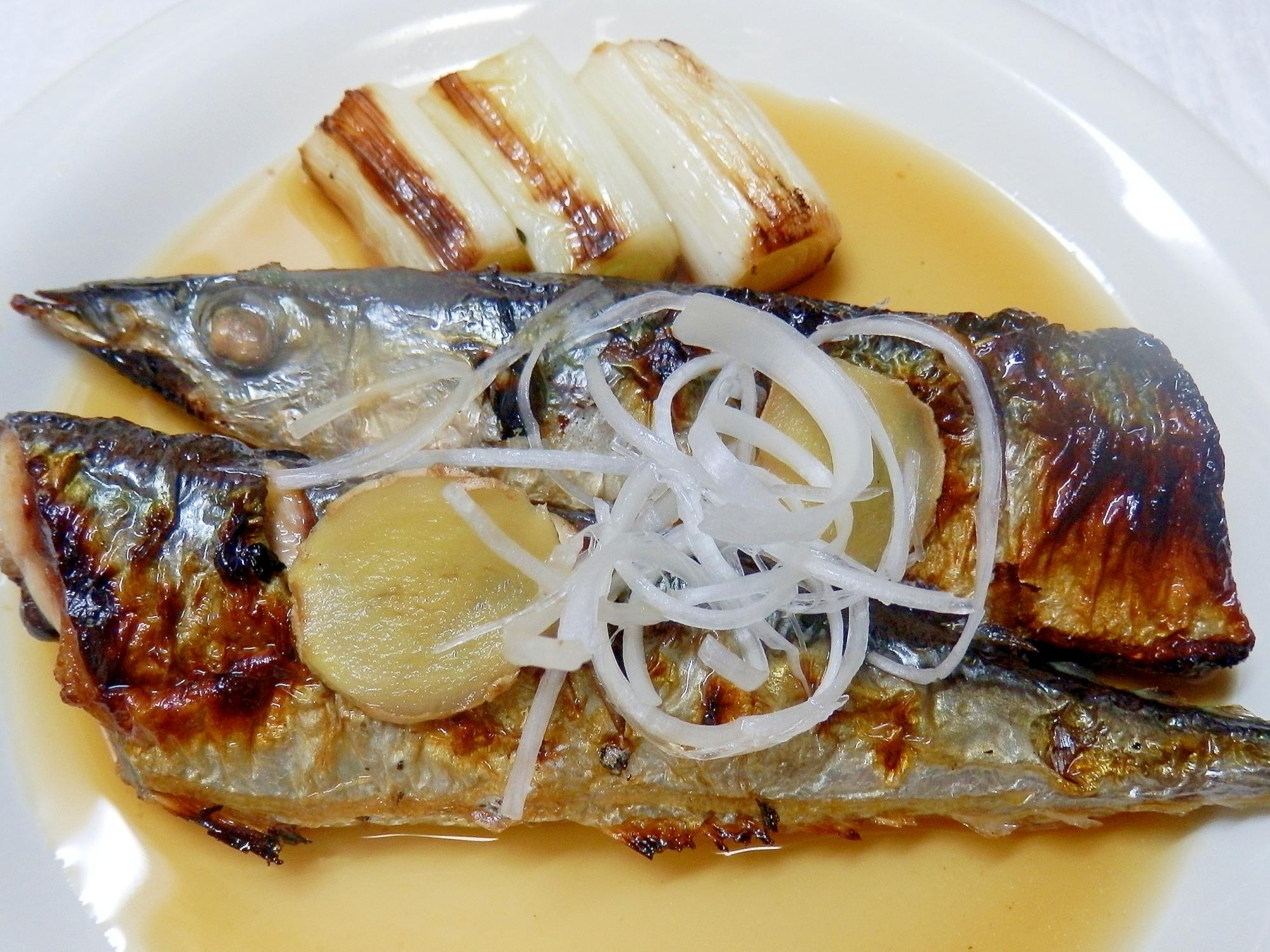 塩焼きサンマのremake煮魚