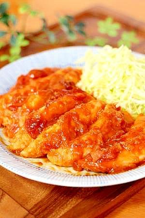 ささみのケチャップ煮 レシピ・作り方 by u,tin♪|楽天レシピ