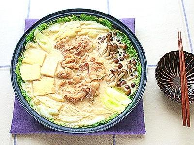 生姜deぽかぽか☆豆乳鍋