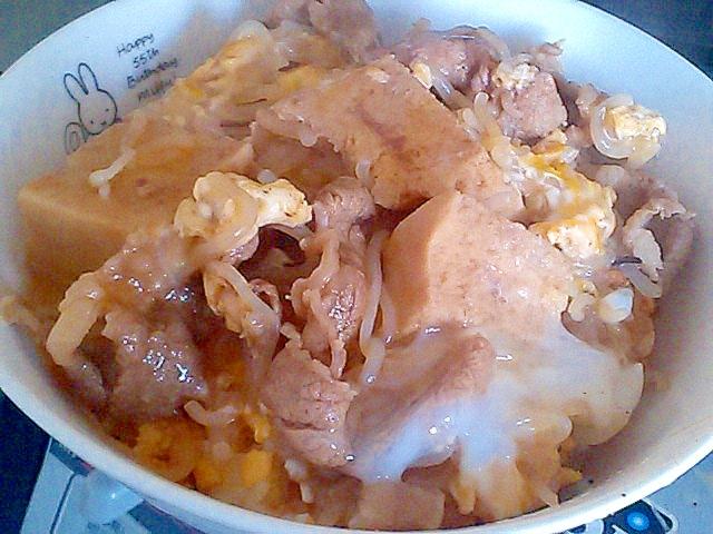 すき焼きの残りで簡単卵とじ&丼