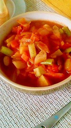 おなかぽっかぽか♪チリビーンズスープ