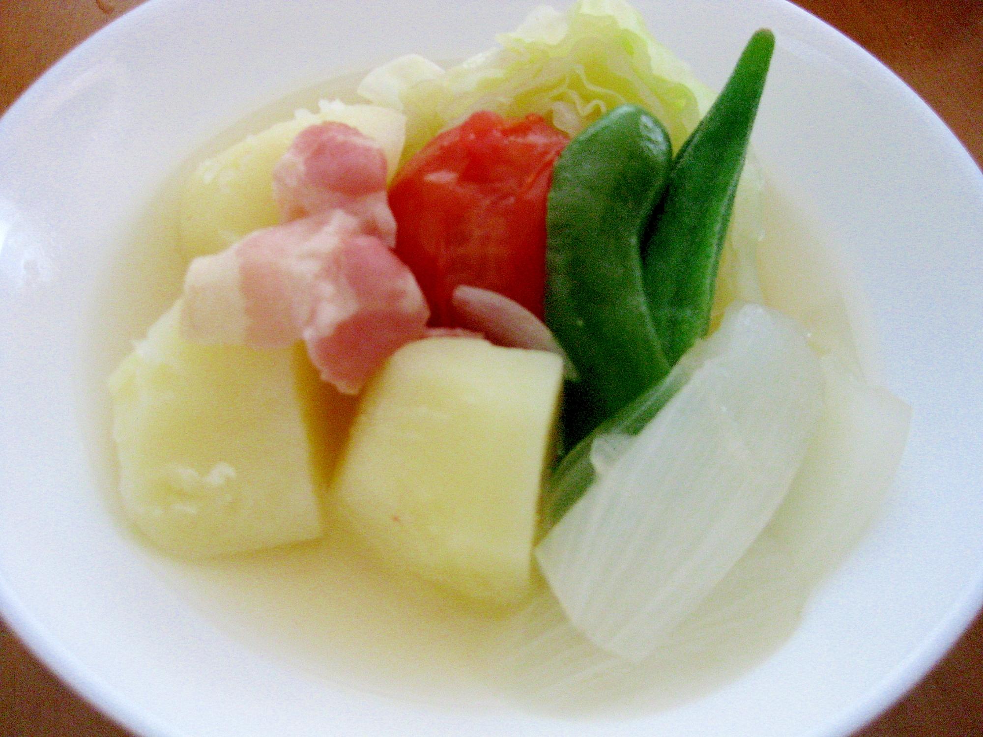 6. キャベツと夏野菜たっぷりポトフ