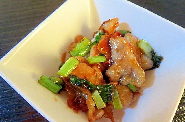 豚と小松菜の小鉢