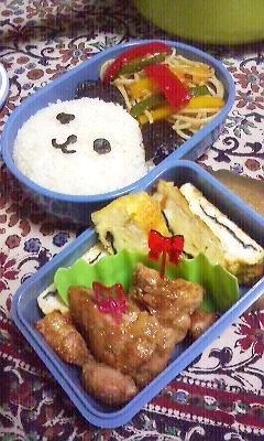 ☆パンダみたいな熊☆のお弁当