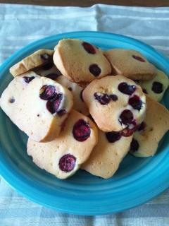 冷凍ブルーベリーでクッキー