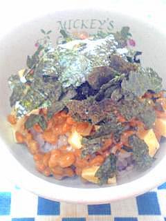 納豆の食べ方-海苔&チーズ♪