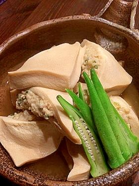 詰め 肉 高野 豆腐