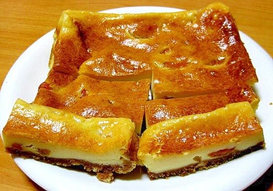 杏のさっぱりチーズケーキバー