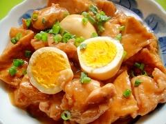 厚揚げと鶏肉の甘辛煮