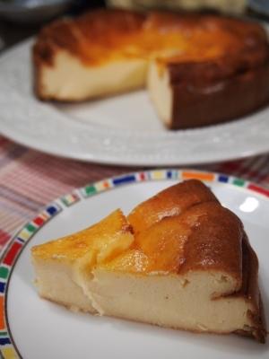 ベイクド チーズ ケーキ 生 クリーム なし