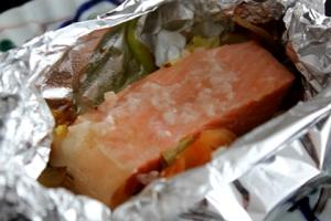 塩麹を使って★鮭のホイル焼き