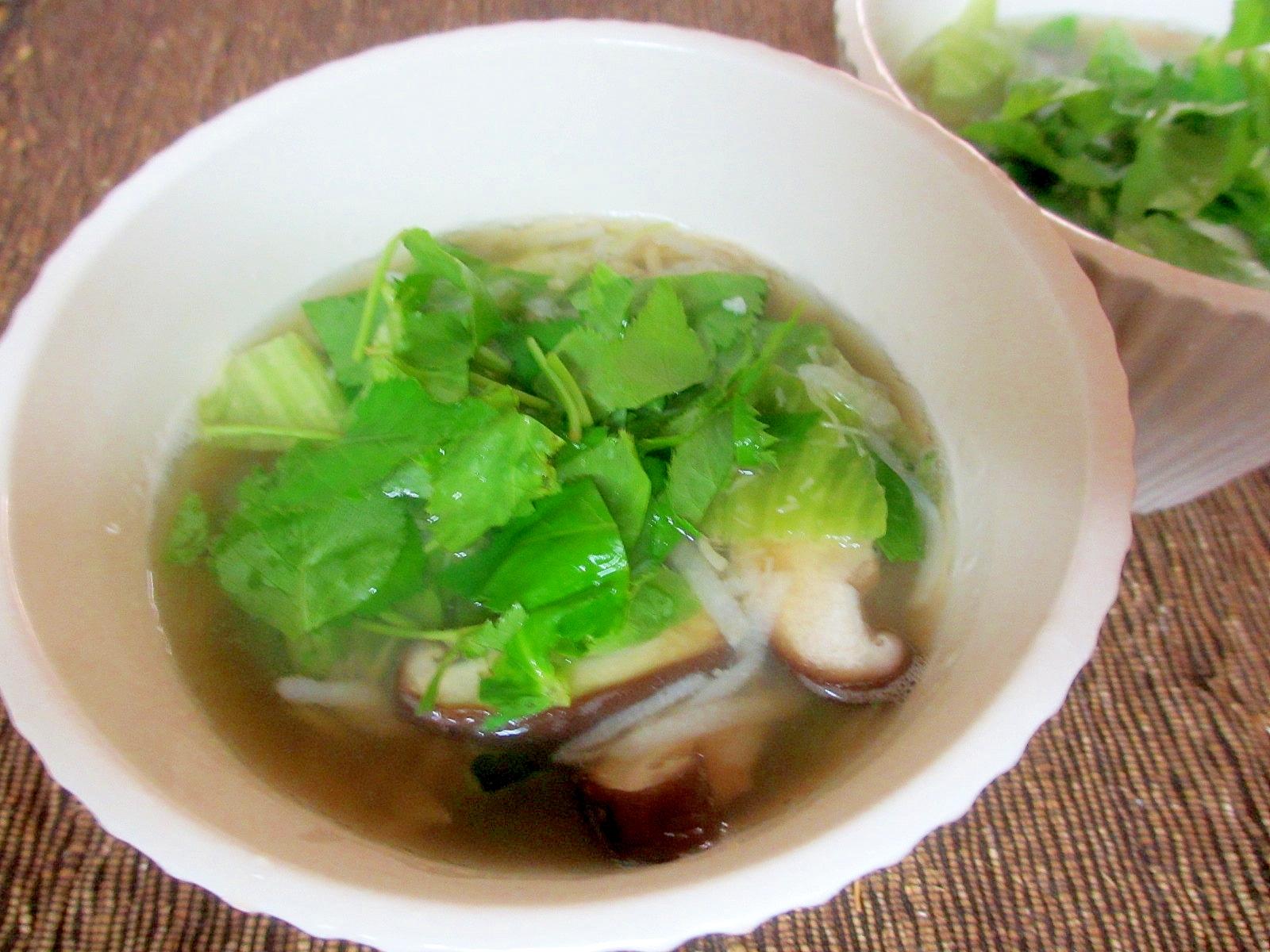長芋とレタスのスープ