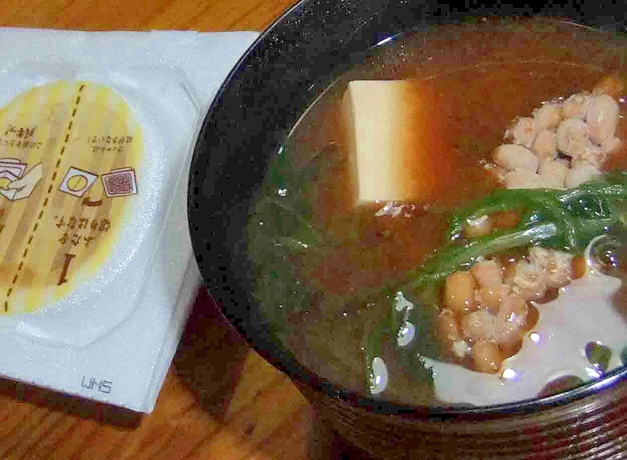 豆腐と三つ葉の納豆汁