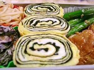 お弁当にグルグル可愛い海苔の卵焼き☆