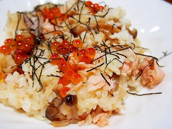 鮭とシメジの混ぜ寿司