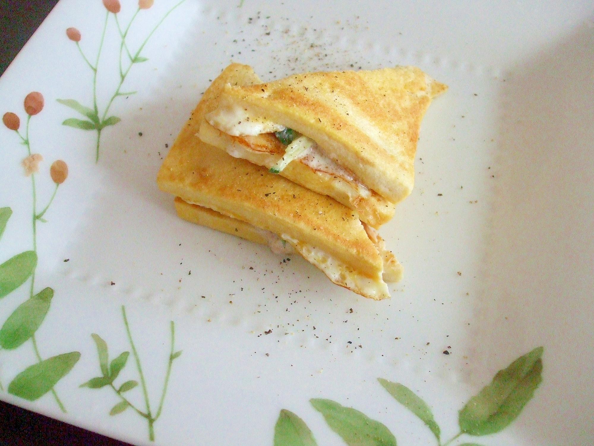高野豆腐を使ったサンドイッチ☆ツナ