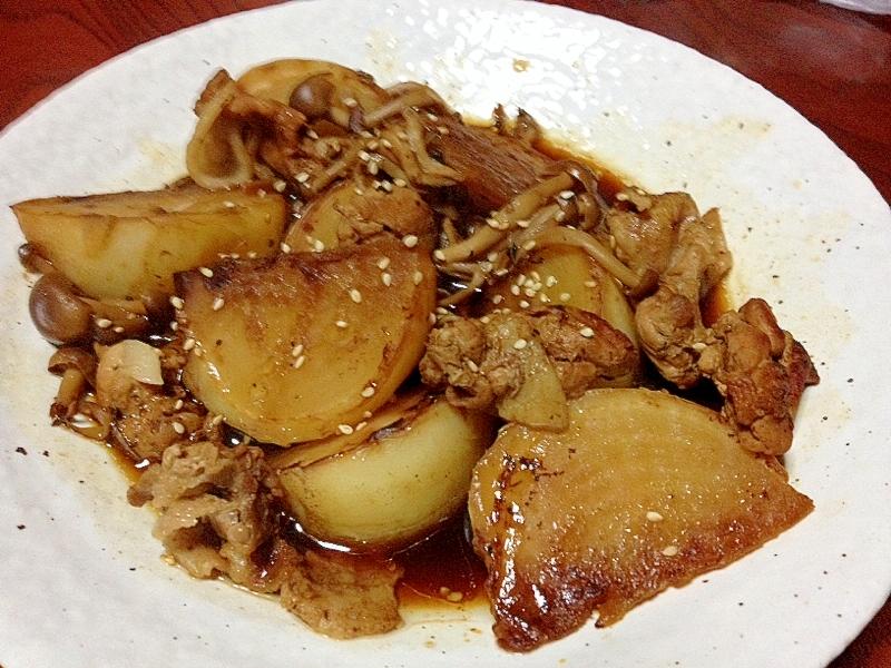 豚コマとカブの煮物