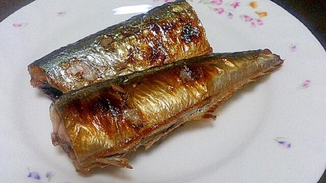 解凍さんまもおいしく焼き魚