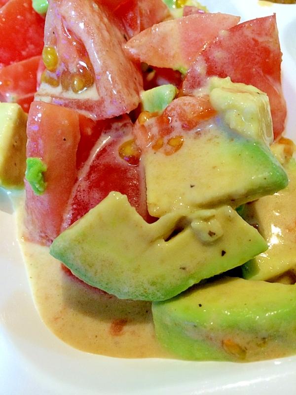 アボカドとトマトの豆乳ゴマドレ*サラダ