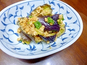 茄子の味噌そぼろ煮
