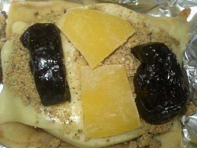 高野豆腐トースト(りんご&イチゴジャム&チーズ)