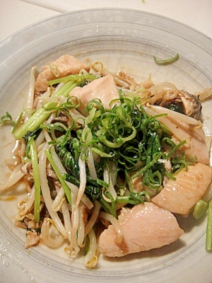 青葱たっぷり☆鶏肉の野菜☆塩だれ炒め