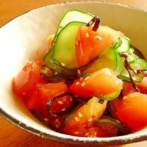 トマト きゅうり 塩 昆布