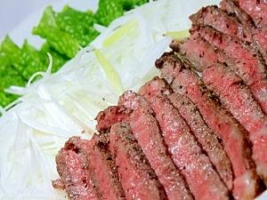 ステーキ肉で簡単ローストビーフ★フライパンで! レシピ・作り方
