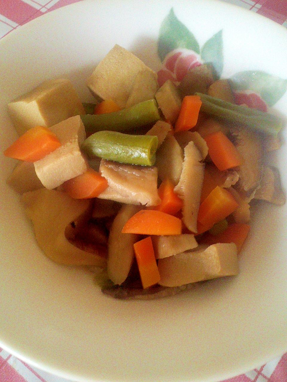 ヘルシー☆高野豆腐&豚肉の煮物