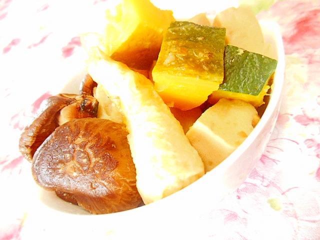 あごだしdeどんこ&南瓜&竹輪&高野豆腐の煮物