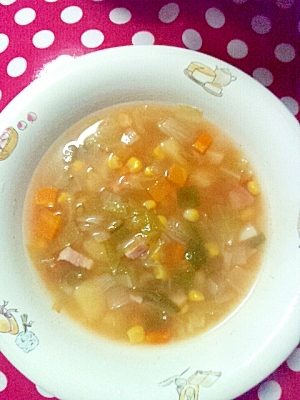 野菜たっぷり!ミネストローネ風おかずスープ