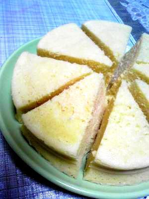シリコンスチーム鍋1個でメイプルシロップ蒸しケーキ