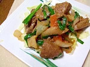 春野菜と豚レバーのオイスター炒め