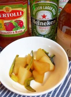 レンジとタジン鍋で簡単・大根とかぶの葉っぱの煮物☆