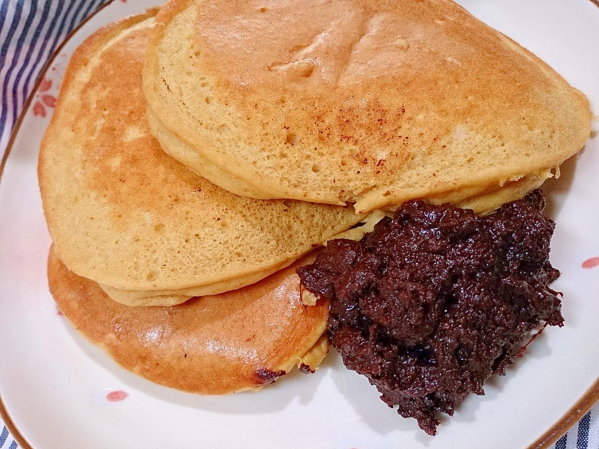 ジンジャーチョコ添えココナッツオイルパンケーキ