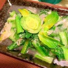 小松菜の中華風みぞれあんかけ炒め