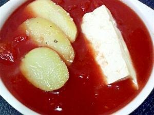 ジャガイモ豆腐トマトスープ