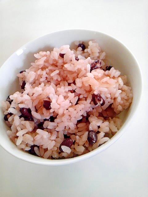 普通のお米でお赤飯