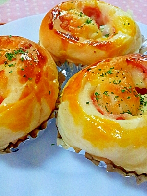 HBでお惣菜パン♪ハム&チーズのふんわりパン レシピ・作り方 by ラズベリっち|楽天レシピ