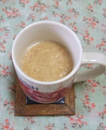 便秘解消に♪小麦ふすまと黄粉で、食べる酒粕