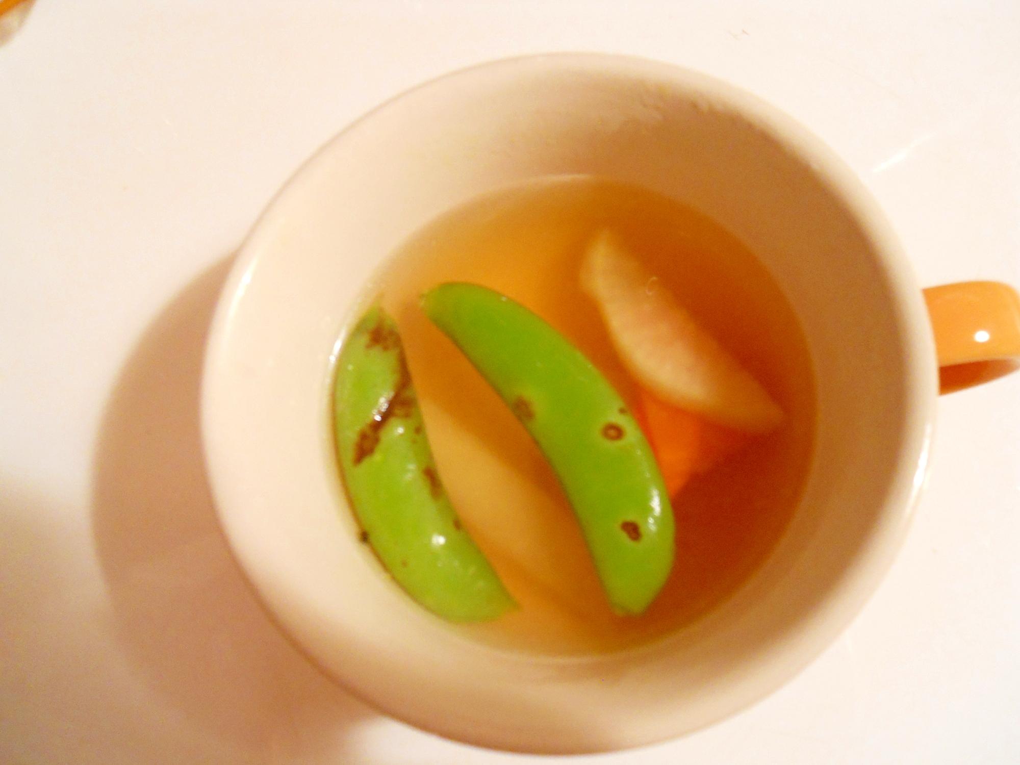 簡単に☆春野菜でコンソメスープ